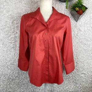 Chico's No Iron Button Up Blouse | S